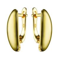 Швензы Полированные объёмный ОВАЛ, цвет золото