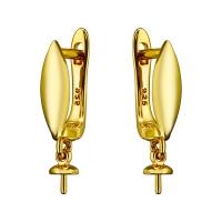Швензы Полированный Овал с бейлом для вклейки, цвет золото