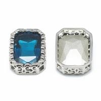 Кристалл в оправе Вензель Платина, форма Oktagon 17*12.5мм, Capri Blue