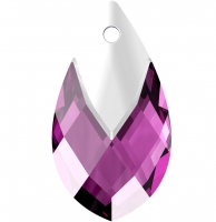 Подвеска Капля 18мм Amethyst Light Colorado Topaz Light Chrome (6565)