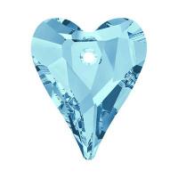 Подвеска Сердце Wild Swarovski, 12мм (арт.6240) Aquamarine