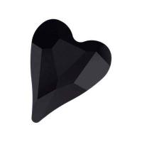 Swarovski Бусина Сердце 12мм Wild Heart (арт.5743) Jet