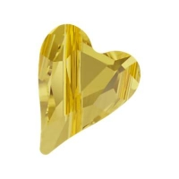 Swarovski Бусина Сердце 12мм Wild Heart (арт.5743) Light Topaz