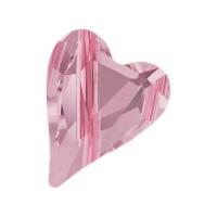 Swarovski Бусина Сердце 12мм Wild Heart (арт.5743) Rosaline