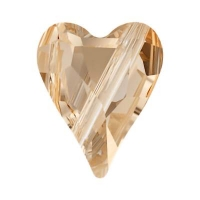 Swarovski Бусина Сердце 12мм Wild Heart (арт.5743) Golden Shadow