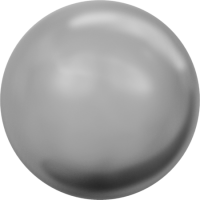 10 бусин Crystal Grey  Pearl