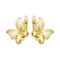 Швензы Бабочка 17мм, цвет золото