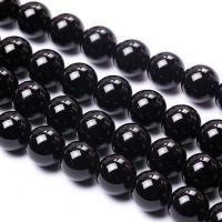 Агат гладкий  Чёрный, шар 14мм, 13 бусин