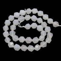 Халцедон кубические грани белый, 10мм, 19 бусин