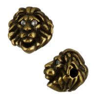 Античная Бусина Лев маленький, цвет бронза