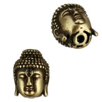 Античная Бусина Будда, цвет чернёное бронза