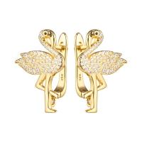 Швензы Фламинго, цвет золото