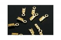 Концевик обжимной 7*1.5мм, цвет золото; 10 штук