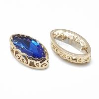 Кристалл в оправе Вензель Золото, форма Navette, 17*9мм, Sapphire