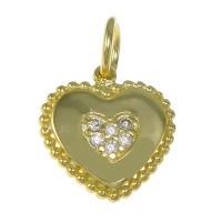 Подвеска Сердце с инкрустацией, цвет золото