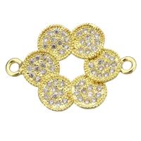 Коннектор Цветок- 6кругов, цвет золото