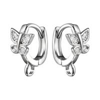 Швензы Кольцо с Бабочкой, цвет платина