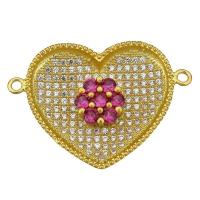 Коннектор Сердце Большое, цвет золото