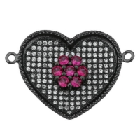 Коннектор Сердце Большое, цвет чёрный
