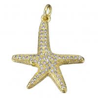 Подвеска Морская звезда 22мм, цвет золото