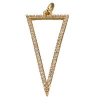 Подвеска Треугольник с фианитами, цвет золото