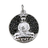 Подвеска Будда, цвет платина