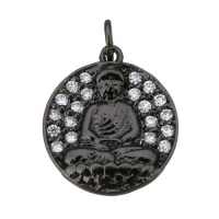 Подвеска Будда, цвет чёрный