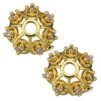 Шапочка Milano для бусины, цвет золото, 8мм