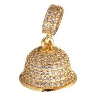 Концевик с крестовиной Колокол на бэйле, цвет золото