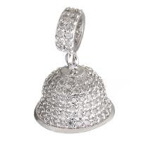 Концевик с крестовиной Колокол на бэйле, цвет платина