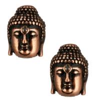 Античная Бусина Будда, цвет чернёное медь