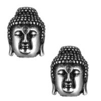 Античная Бусина Будда, цвет чернёное серебро