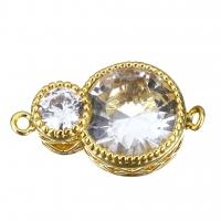 Коннектор 8, с ювелирным стеклом; цвет золото