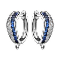 Швензы Волна с синей шпинелью; цвет платина