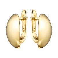 Швензы объёмный Овал 17.2*8.3, цвет золото