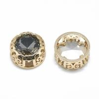 Кристалл в оправе Вензель Золото, форма Круг, 12мм, Black Diamond