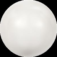 10 бусин Crystal White  Pearl
