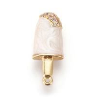 Подвеска Мороженое Булгари с эмалью и фианитами; цвет золото