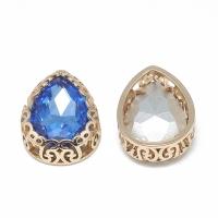 Кристалл в оправе Вензель Золото, форма Капля 16*12мм, Light Sapphire