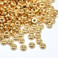 10 штук Спейсер узкий 4мм, цвет золото