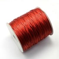 Нить пр-во Ю.Корея с восковой пропиткой 1,5мм, цвет красный; 5 метров