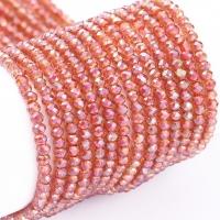 Хрустальные бусины В ТУБЕ -Рондель 2*1.5мм; светлый коралл АВ; 230 бусин