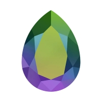 Swarovski Pear 14*10мм Scarabaeus Green