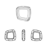 Swarovski - Cosmic Square Ring (арт.4437) Silver Shade