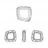 Swarovski - Cosmic Square Ring (арт.4437) Dorado
