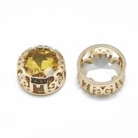 Кристалл в оправе Вензель Золото, форма Круг, 12мм, Topaz