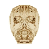 Swarovski Бусина арт. 5750 Scull, Golden Shadow