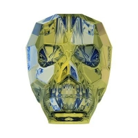 Swarovski Бусина арт. 5750 Scull, Iridescent Green