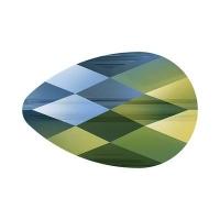 Swarovski Бусина mini Drop -10*6mm- Iridescent Green (5056)