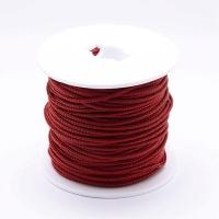 Стальной плетёный шнур с эффектом Мэмори, цвет Марсала